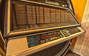 Picture music, abandoned, jukebox, Satellite 200, musicplayer