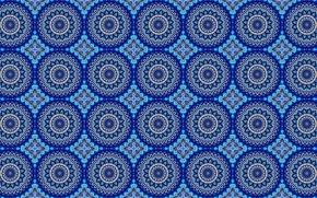 Wallpaper circles, ornament, pattern, blue