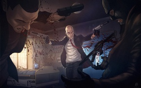 Picture weapons, guns, Hitman, killer, killer, patrick brown, Absolution, Agent 47