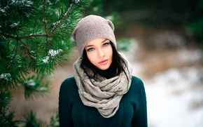 Picture the beauty, cap, Angelina Petrova, Denis Petrov, Winter girl