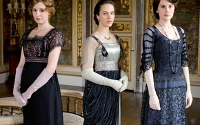 Wallpaper Jessica Brown Findlay, Downton Abbey, Mary Crowley, Sybil Crawley, Edith Crawley, actress, Michelle Dockery, Laura ...