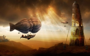 Picture Tower, Castle, The airship