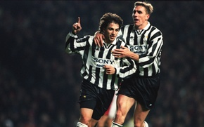 Picture retro, classic, Juventus, celebrating a goal, Italian seria a team, football the nineties, Alen Boksic, …