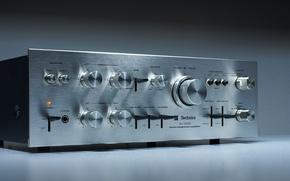 Wallpaper macro, background, Technics SU 3500 Stereo Amplifier, 1975