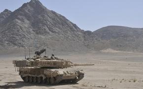Picture desert, tank, combat, Leopard 2A6M