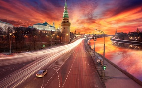Picture sunset, treatment, Moscow, the Kremlin