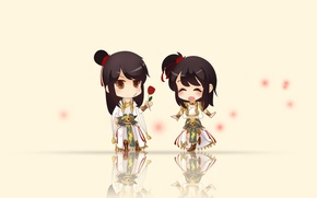 Picture flower, gift, anime, boy, art, girl, two, of APE