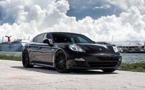 Picture Porsche, Panamera, Black