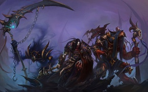 Picture weapons, magic, armor, WoW, World of Warcraft, chain, warriors