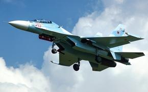 Picture flight, fighter, cabin, multipurpose, double, Su-30M2
