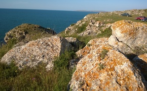 Picture sea, nature, stones