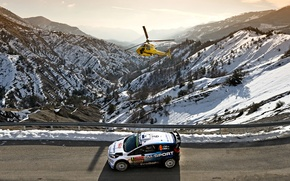 Picture Ford, Ford, WRC, Rally, Rally, Helicopter, Fiesta, Monte Carlo, There Miss