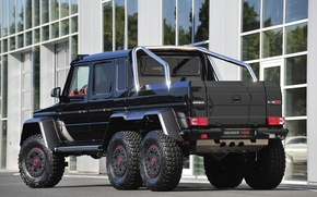 Picture Mercedes-Benz, Back, Building, G63, Brabus 700 6x6, W463 AMG