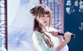Picture Asian, sword, girl