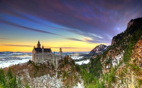 Picture mountains, castle, Germany, Germany, Bavaria, Neuschwanstein Castle