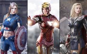 Wallpaper avengers, movies, marvel super heroes, Amber Heard, groups, Sandra Bullock, girls, actress, women, iron man, ...