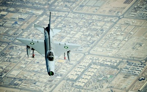 Picture flight, the city, Chengdu, the view from the top, training, jet, Chinese, F-7, Pakistan, (J-7)
