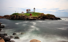 Picture stones, lighthouse, Sea
