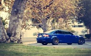 Picture BMW, Parking, blue, E92