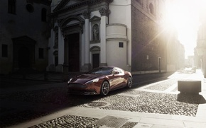 Picture Aston Martin, Machine, Light, The building, Blik, Vanquish, The front, AM310