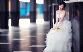 Picture girl, dress, Asian, wedding, wedding