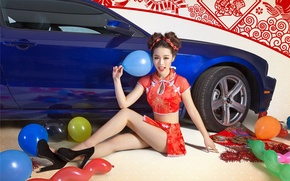Picture machine, auto, girl, China, China, Asian, asian model