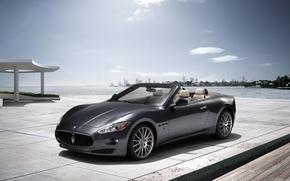 Picture sea, Maserati, Italy, convertible, top, back, main, Maserati, main_front