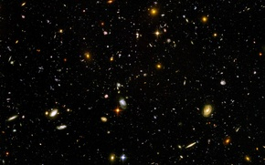 Picture the universe, galaxy, intergalactic space