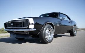 Picture black, camaro, 1968, chevy