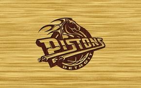 Wallpaper Basketball, Logo, Detroit Pistons, Detroit