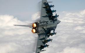 Wallpaper fighter, fighter, missiles