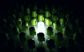 Picture light, green, green, robots, green, light, Android, robot, Android, robots