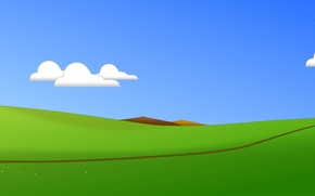 Picture minimalism, vector, chicken