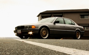 Picture Wallpaper, lights, tuning, BMW, Car, drives, wallpapers, Boomer, seven, Beha, E38, bmw 740
