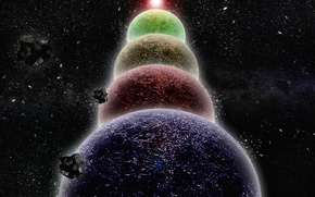 Picture Stars, Planet, Meteorite