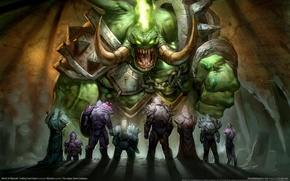 Wallpaper Warriors, Heroes, WoW, The demon, World of Warcraft