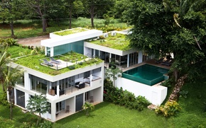 Picture house, Villa, pool, Costa Rica, luxury homes