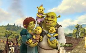 Wallpaper Shrek 4, Fiona, children, cartoon