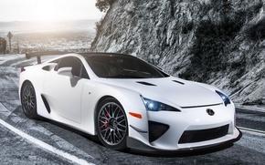 Picture White, Tuning, Lexus, Car, Car, White, Wallpapers, Tuning, Performance, Wallpaper, Lexus LFA, The LFA belongs, …