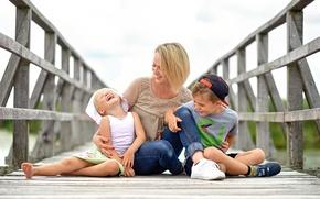 Picture joy, children, family, mom