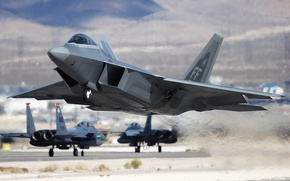 Picture USA, Raptor, the rise, F-22, Raptor, Air Force, USAF, F-22 Raptor, United States Air Force, …
