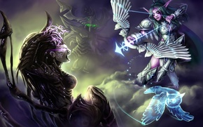 Wallpaper starcraft, warcraft, sarah kerrigan, Heroes of the Storm, Tyrande, Zagara