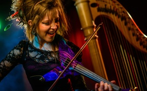 Picture violin, harp, violin, Lindsey Stirling, Lindsey Stirling