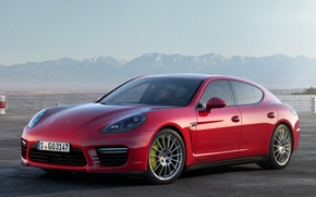 Wallpaper red, Porsche, Panamera, sports car, Porsche, GTS