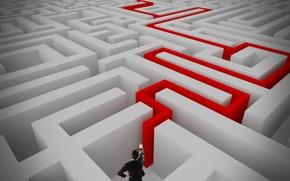 Picture exit, maze, search