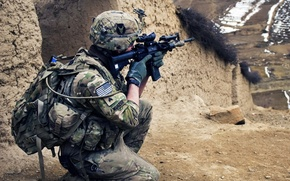 Picture soldier, desert, military, weapon, army, marine, Iraq