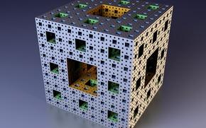 Picture Mandelbrot, fractal, cube