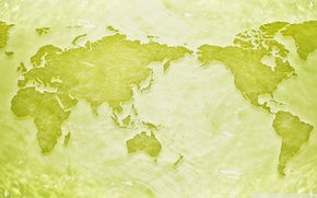 Picture sea, green, earth, planet, map, continents, different, map
