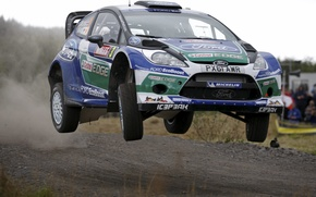 Picture Ford, Jump, WRC, Rally, Rally, Fiesta, Latvala