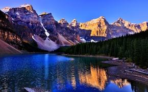 Picture landscape, nature, Banff National Park, Lake Louise, Canada, Lake